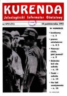 Kurenda : jeleniogórski informator oświatowy, 1993, nr 8 (51)