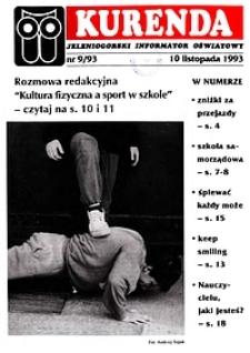 Kurenda : jeleniogórski informator oświatowy, 1993, nr 9 (52)
