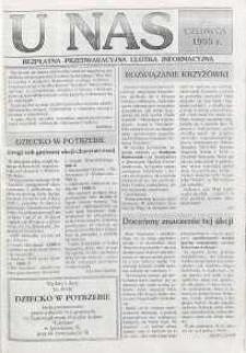 U Nas : miesięcznik jaworzyński, 1995, Bezpłatna przedwakacyjna ulotka informacyjna