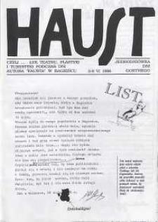 U Nas : miesięcznik jaworzyński, 1996, Haust : jednodniówka dni Goethego