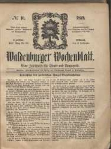 Waldenburger Wochenblatt, Jg. 5, 1859, nr 10