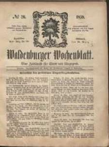 Waldenburger Wochenblatt, Jg. 5, 1859, nr 26