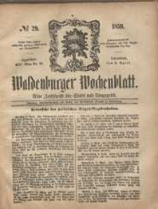 Waldenburger Wochenblatt, Jg. 5, 1859, nr 29