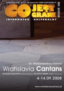 Co Jest Grane : informator kulturalny, 2008, nr 175
