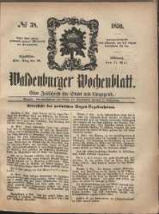 Waldenburger Wochenblatt, Jg. 5, 1859, nr 38