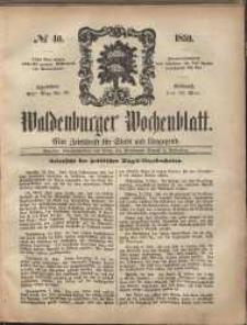 Waldenburger Wochenblatt, Jg. 5, 1859, nr 40
