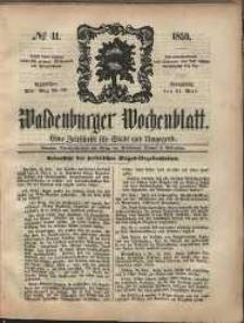 Waldenburger Wochenblatt, Jg. 5, 1859, nr 41