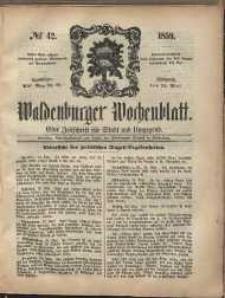 Waldenburger Wochenblatt, Jg. 5, 1859, nr 42