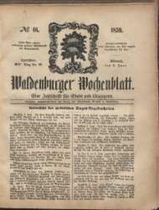 Waldenburger Wochenblatt, Jg. 5, 1859, nr 46