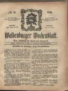 Waldenburger Wochenblatt, Jg. 5, 1859, nr 47