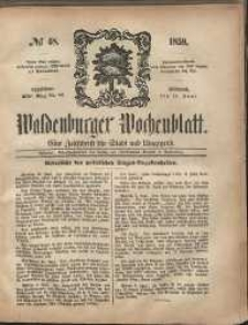 Waldenburger Wochenblatt, Jg. 5, 1859, nr 48