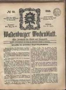 Waldenburger Wochenblatt, Jg. 5, 1859, nr 60