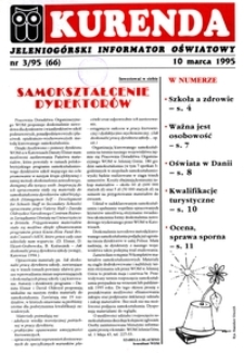 Kurenda : jeleniogórski informator oświatowy, 1995, nr 3 (66)
