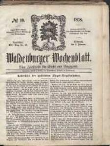 Waldenburger Wochenblatt, Jg. 4, 1858, nr 10