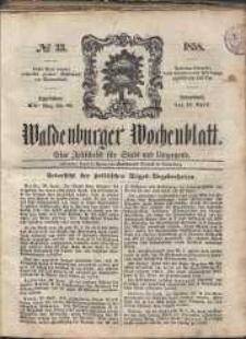 Waldenburger Wochenblatt, Jg. 4, 1858, nr 33
