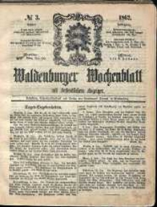 Waldenburger Wochenblatt, Jg. 8, 1862, nr 3