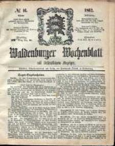 Waldenburger Wochenblatt, Jg. 8, 1862, nr 16