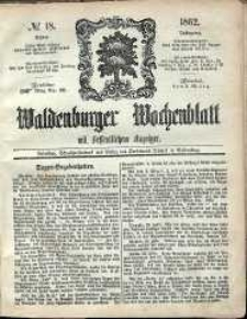 Waldenburger Wochenblatt, Jg. 8, 1862, nr 18
