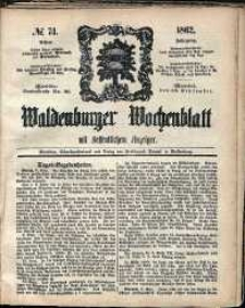 Waldenburger Wochenblatt, Jg. 8, 1862, nr 74