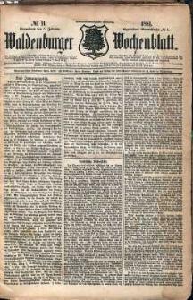 Waldenburger Wochenblatt, Jg. 27, 1881, nr 11