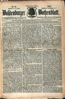 Waldenburger Wochenblatt, Jg. 27, 1881, nr 22