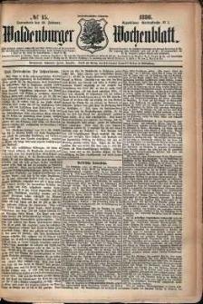 Waldenburger Wochenblatt, Jg. 32, 1886, nr 15