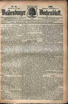 Waldenburger Wochenblatt, Jg. 32, 1886, nr 42