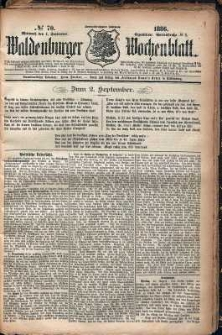 Waldenburger Wochenblatt, Jg. 32, 1886, nr 70