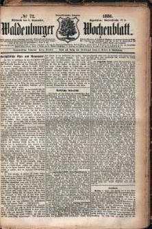Waldenburger Wochenblatt, Jg. 32, 1886, nr 72
