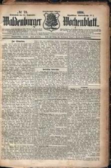 Waldenburger Wochenblatt, Jg. 32, 1886, nr 73