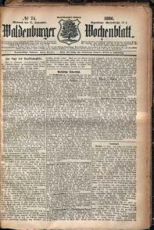 Waldenburger Wochenblatt, Jg. 32, 1886, nr 74