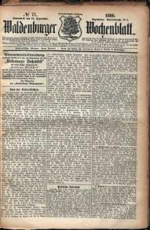 Waldenburger Wochenblatt, Jg. 32, 1886, nr 77