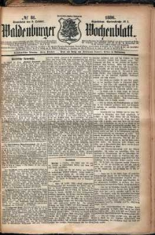 Waldenburger Wochenblatt, Jg. 32, 1886, nr 81