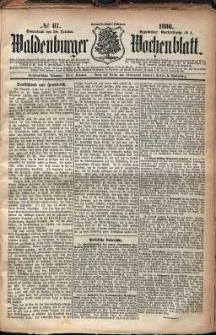 Waldenburger Wochenblatt, Jg. 32, 1886, nr 87