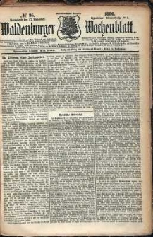 Waldenburger Wochenblatt, Jg. 32, 1886, nr 95