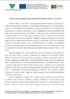 VII edycja euroregionalnego konkursu plastycznego: Rzepiór, Krabat - czy ich znacie? [Dokument elektroniczny]