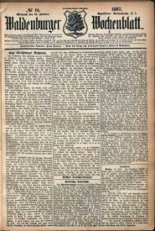 Waldenburger Wochenblatt, Jg. 33, 1887, nr 14