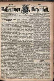 Waldenburger Wochenblatt, Jg. 33, 1887, nr 61