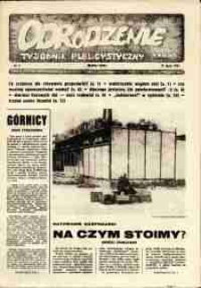 """Odrodzenie : tygodnik publicystyczny NSZZ """"Solidarność"""", 1981, nr 4"""