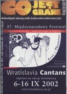 Co Jest Grane : dolnośląski miesięcznik kulturalno-informacyjny, 2002, nr 9 (103)