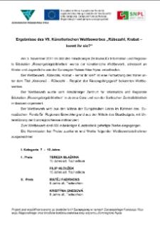 """Ergebnisse des VII. Künstlerischen Wettbewerbes """"Rübezahl, Krabat - kennt ihr sie?"""" [Dokument elektroniczny]"""