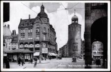 Görlitz - Marienplatz mit Frauenturm [Dokument ikonograficzny]