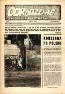 """Odrodzenie : tygodnik publicystyczny NSZZ """"Solidarność"""", 1981, nr 8"""