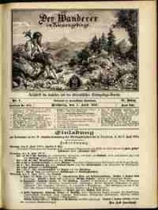 Der Wanderer im Riesengebirge, 1911, nr 4