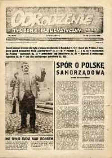 """Odrodzenie : tygodnik publicystyczny NSZZ """"Solidarność"""", 1981, nr 10-11"""