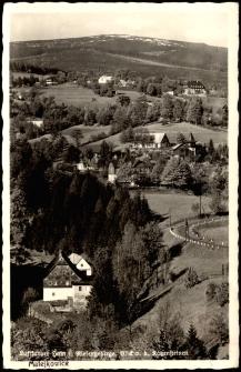 Luftkurort Hain i. Riesengebirge. Blick v. b. Katzensteinen [Dokument ikonograficzny]