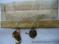 Dokument księcia Bolka i księżnej Agnieszki nadający miastu Jelenia Góra i całemu okręgowi miejskiemu przywilej dotyczący eksploatacji rud żelaza