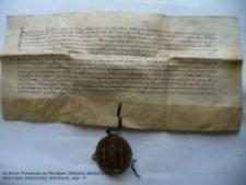 Dokument księcia Bolka potwierdzający sprzedaż dziedzicznego wójtostwa w Jeleniej Górze