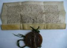 Dokument księżnej Agnieszki potwierdzający sprzedaż folwarku w Jeżowie Sudeckim
