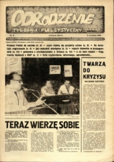 """Odrodzenie : tygodnik publicystyczny NSZZ """"Solidarność"""", 1981, nr 9"""